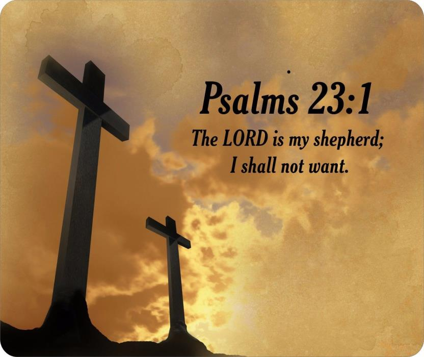 Religious Bible Verse Psalms 23:1 Mouse Pad FREE SHIPPING