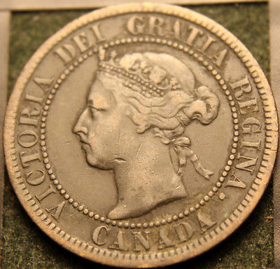 #748# 1899 CANADIAN COINS LARGE CENT QUEEN VICTORIA