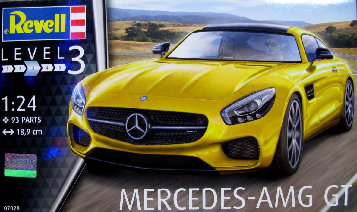 Revell-Germany Mercedes AMG GT Sports Car Model Kit 1/24 Scale  NEW