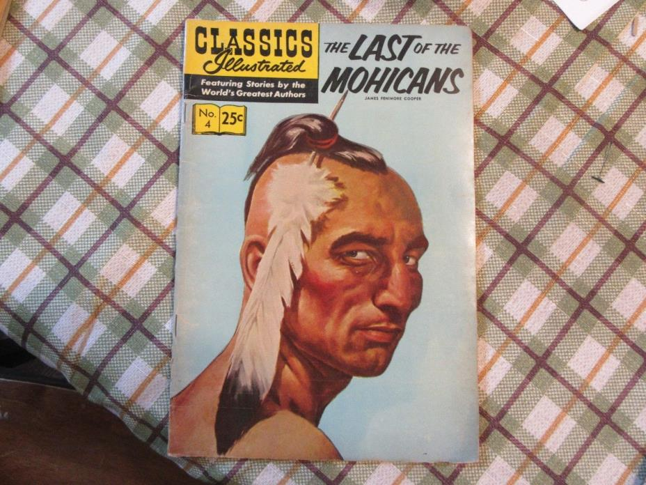 Classics Illustrated #4 Last of the Mohicans  HRN 169