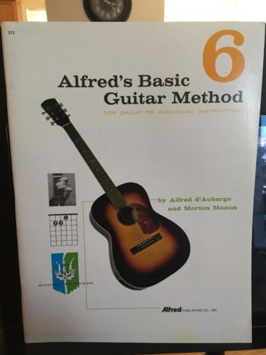 Guitar Instruction/Lesson Book Alfred's Basic Guitar Method Book 6.