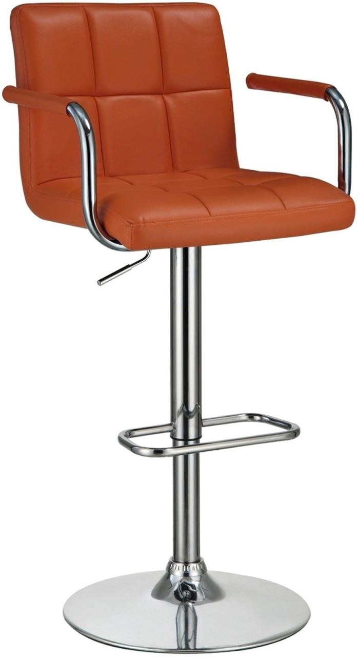 Modern Adjustable Square Falco Mid Century Stitched Upholstered Pumpkin Stool