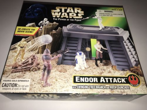 STAR WARS POTF ENDOR ATTACK SET NEW