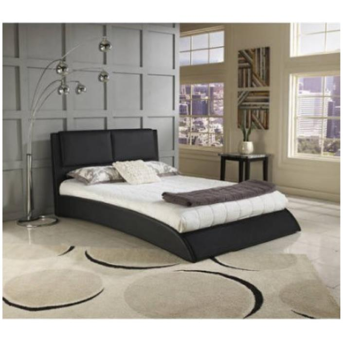 Platform Bed Frame Queen Size Upholstered Headboard Bedroom Furniture Modern