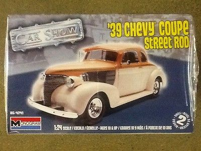 MONOGRAM 1/24 1939 CHEVY COUPE STREET ROD MODEL KIT ITEM #85-4241 FACTORY SEALED