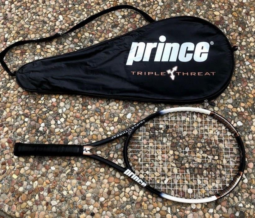 $200 Prince TT TRIPLE THREAT Bandit OS 110 Oversize Tennis Racket 4 3/8