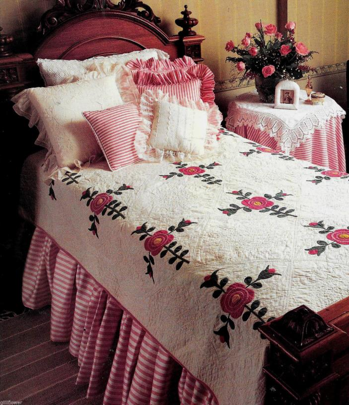 ROMANTIC ROSE VINTAGE QUILT PATTERN