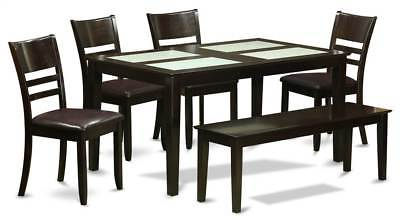 6-Pc Dining Set with Leatherette Seat [ID 3313462]