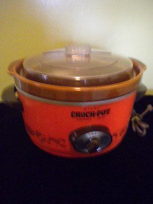 Vintage Rival Crock Pot #3350 Retro Orange Serial 4 qt. Removable Server
