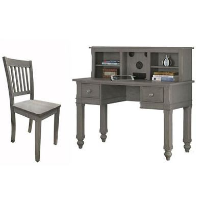 NE Kids Lake House Stone Writing Desk with Hutch and Chair - 2540NDHC