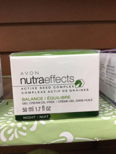 Avon nutraeffects Balance Night Gel Cream 1.7 oz Oily to Combination Skin