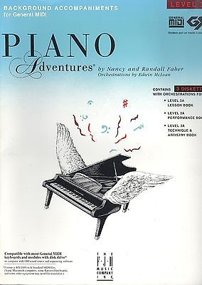 Piano Adventures Background Accompaniments For General Midi Level 3A 3 Diskettes