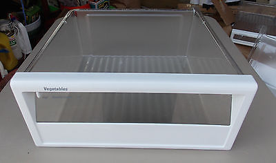 GE Kenmore Upper Veg Drawer Pan & Frame for TPX21 Profile PN WR32X1405 WR17X3314
