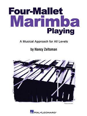 Four Mallet Marimba Playing Etudes Sheet Music Lessons Hal Leonard Book NEW