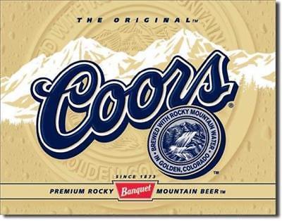 Coors Beer The Original Metal Tin Sign