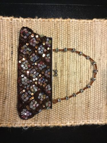 Chateau Brown Jeweled Evening Purse