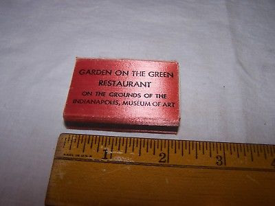 Vintage GARDEN ON THE GREEN RESTAURANT Diamond Wood Matches INDIANAPOLIS INDIANA