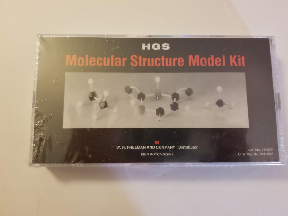 HGS Molecular Structure Model Kit Set Organic Chemistry W.H.Freeman A203-3