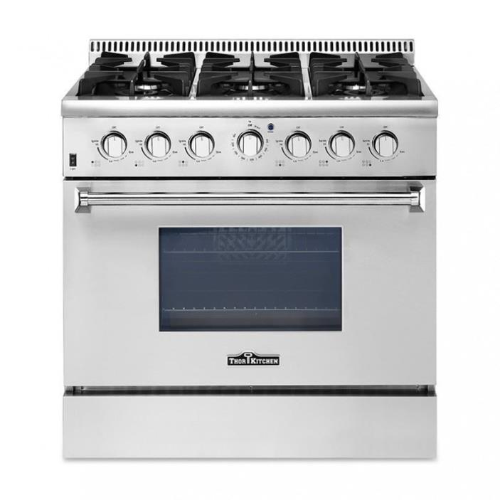 Thor Kitchen 30''/36''/48'' Gas Range 4/6/8 Burners Professional Stainless Steel