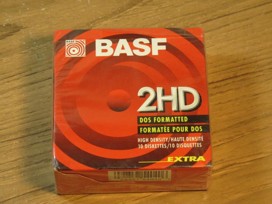 New Sealed BASF 2HD 10 2 Sided Floppy Disk 3.5