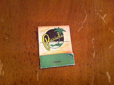 Original Picciolo Collins Ave South End Miami Beach Florida Vintage Matchbook