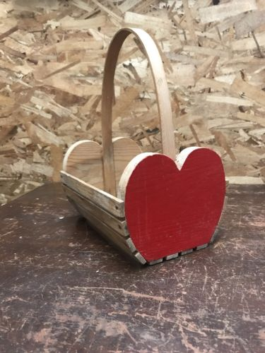 "Vintage Wooden Apple Basket - Kitchen Decor 12"" x 9"""