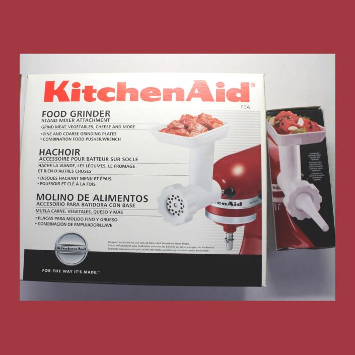 *NEW KITCHENAID Mixer MEAT Food GRINDER & SAUSAGE MAKER Attachments!  FGA SSA!