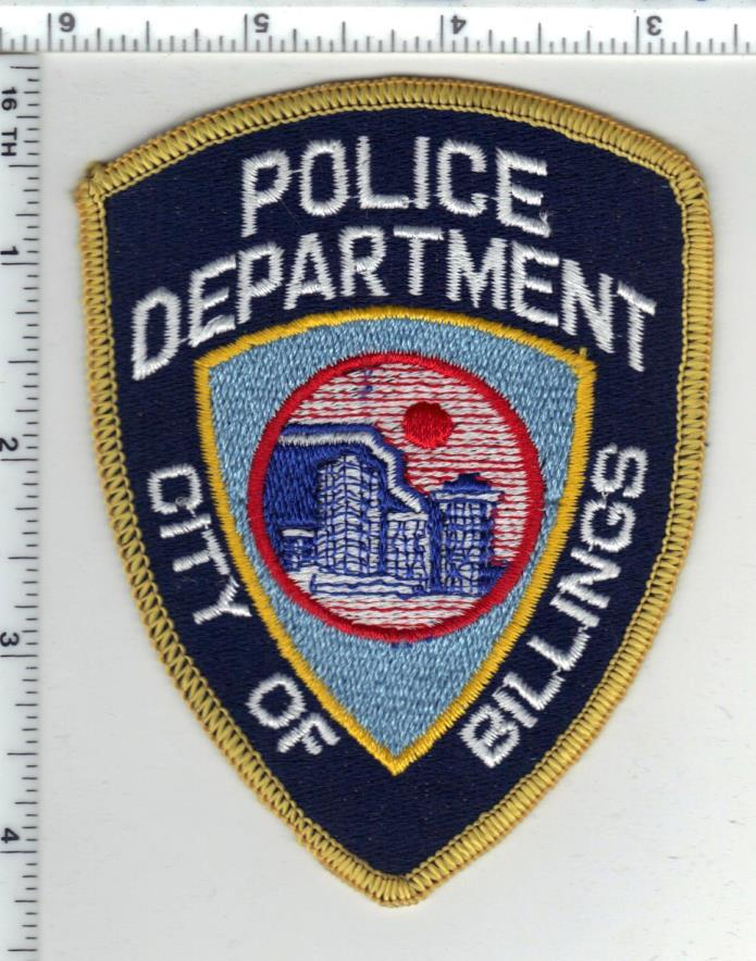 Billings Police (Montana) 1st Issue Shoulder Patch - new from the 1980's