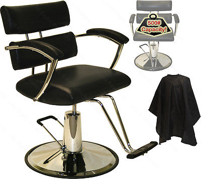 New Extra Wide Black Hydraulic Barber Chair Styling Hair Beauty Salon Equipment