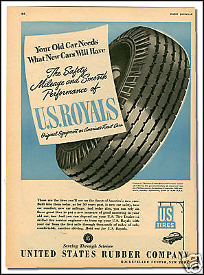1946 US Royal Tire collectible print ad