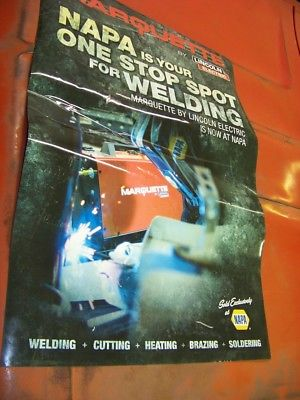 Lincoln Electric Marquette Welders Heavy Vinyl poster Napa Store Advertisement