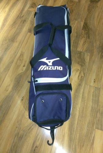 Mizuno Elite Performance Rolling Baseball Softball Bat Equipment Bag Navy Black