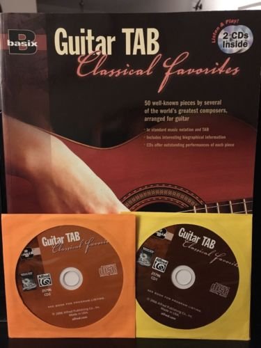 Basix Guitar Tab Classical Favorites with two CDs
