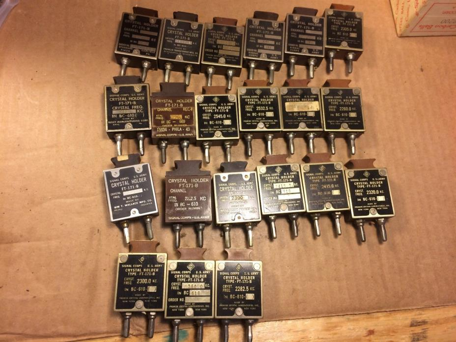 Big lot of 21 Ham Radio Transmitter Crystal Holders FT-171-B WWII #2