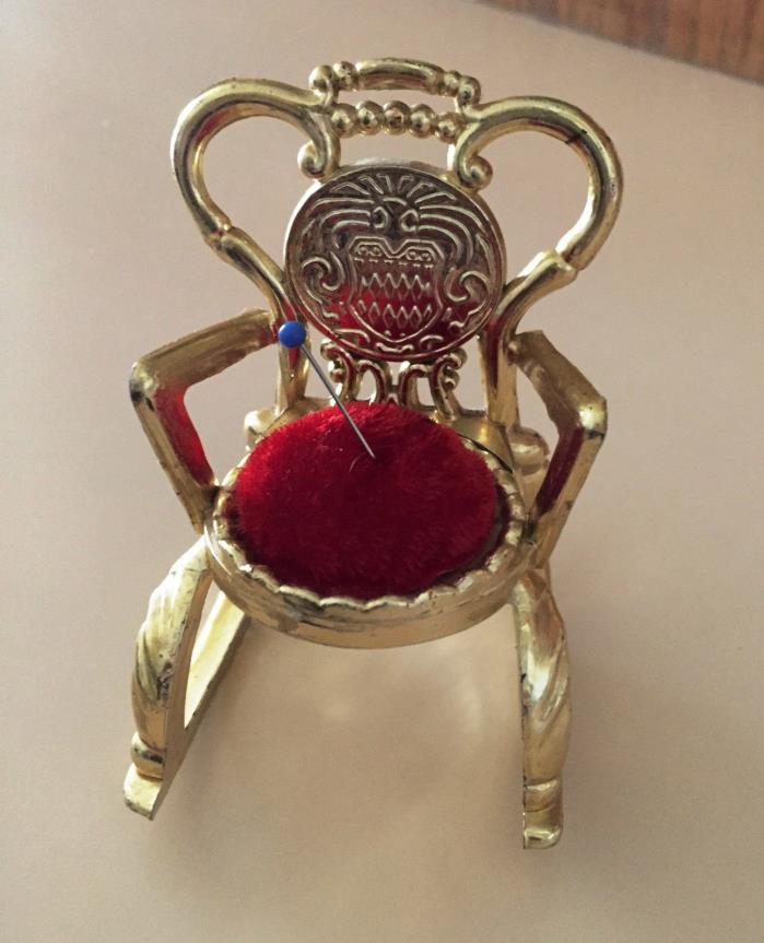 Vintage PIN CUSHION Rocking Chair, Molded Plastic, Hong Kong