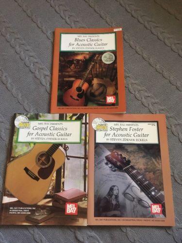 Mel Bay Presents Acoustic Guitar Books - Lot Of 3
