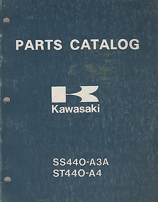 1981 KAWASAKI  SNOWMOBILE INVADER,INTRUDER 440 P/N 9960-3509 PARTS MANUAL (903)