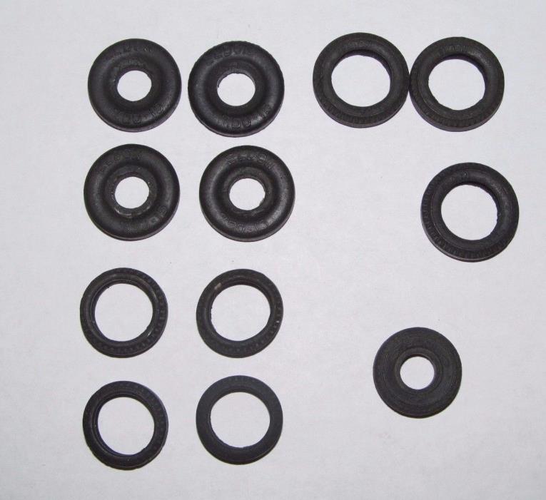 12 Slot Car Hard Rubber Tires 7.50-15 Eldon 1/24 & 1/32 Scale Parts
