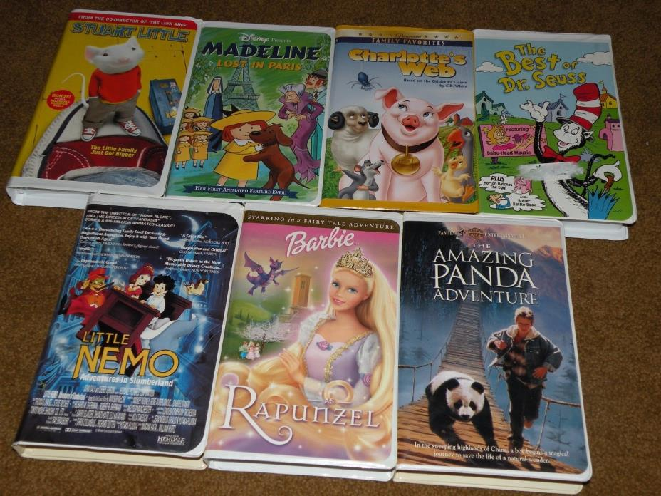 7 Children's VHS movies - used