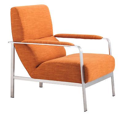 Zuo Jonkoping Modern Arm Chair in orange Finish 500347