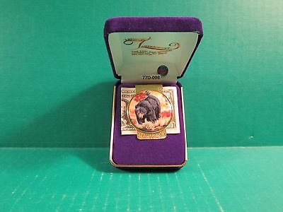 Gold Plated Money Clip With Grizzly Bear Design