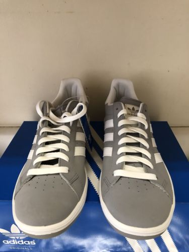 Adidas Grand Prix Brand New with Tags Size US 10 Aluminum Leather 3Stripes White