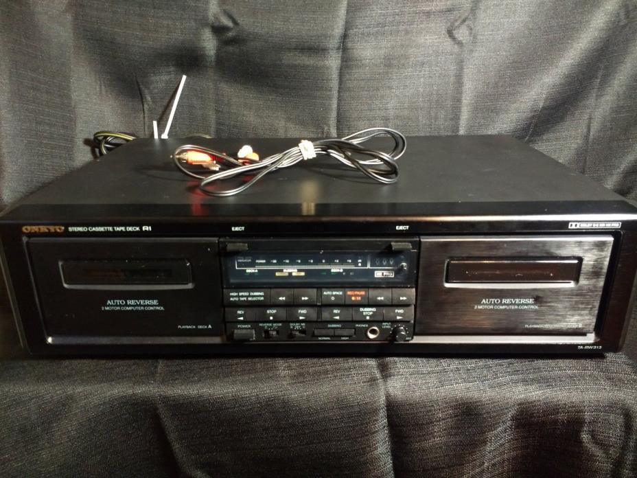 ONKYO TA-RW313 Auto Reverse Stereo Dual Cassette Tape Deck