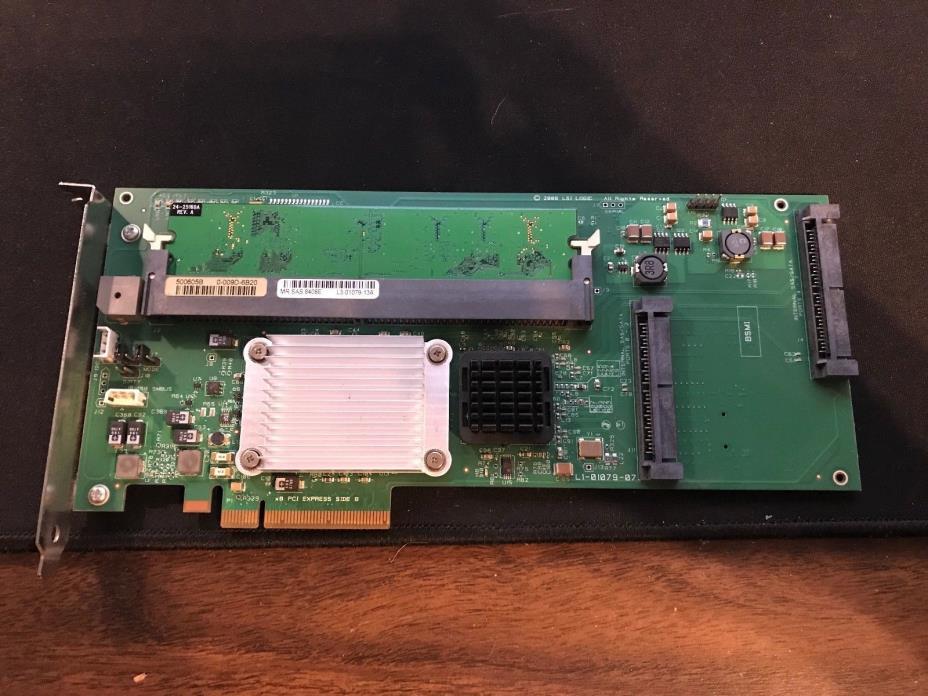 LSI MegaRAID MR SAS 8408E SAS RAID Controller w/ Cache Battery
