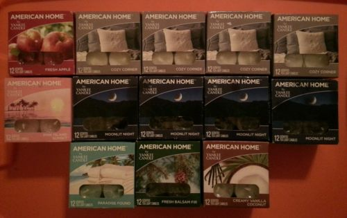 American Home by Yankee Candle, Set of 13 boxes = 156 Scented Tea Light Candles!