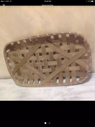tobacco basket Farmhouse Rustic Shabby Chic