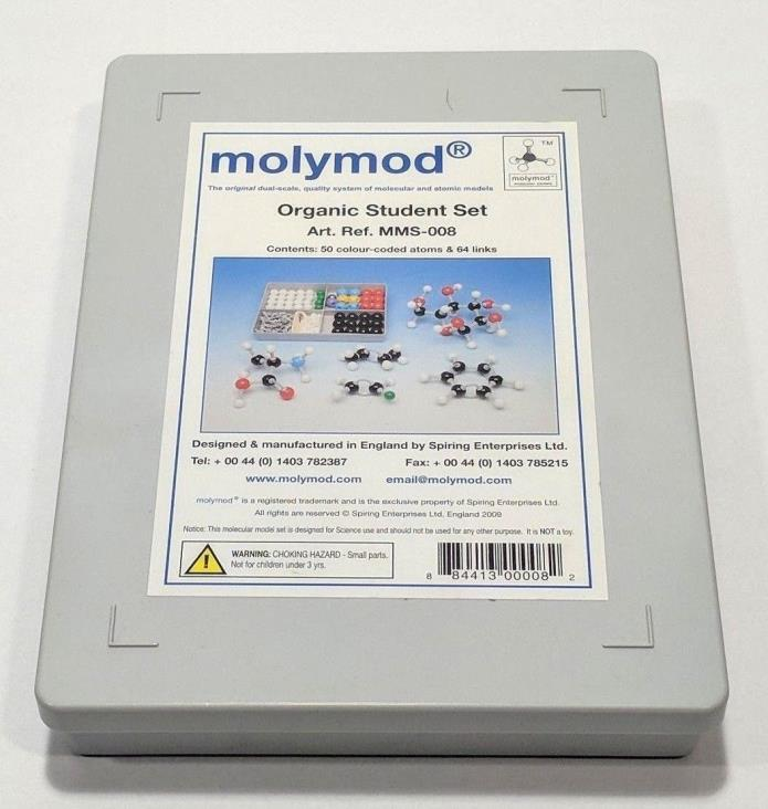 Molymod MMS-008 Organic Chemistry Molecular Model Student Set (50 atom parts)