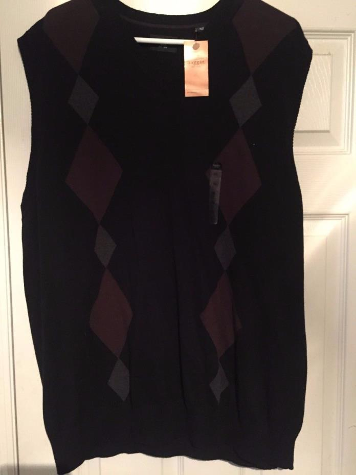 Haggar Sweater Vest - black-brown - New with tags - Size 2X