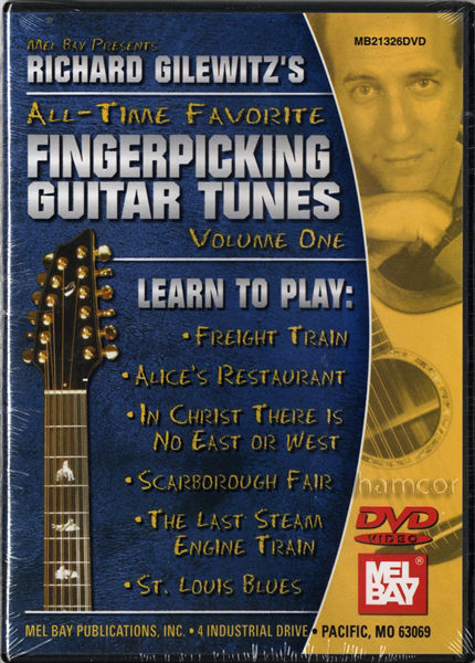 New ~ Richard Gilewitz's All - Time Favorite Fingerpicking Tunes ... Guitar DVD