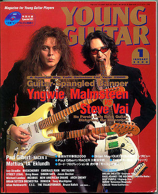 Young Guitar Jan/00 VAI Yngwie Paul Gilbert Jason Becker Mattias Dokken Queen